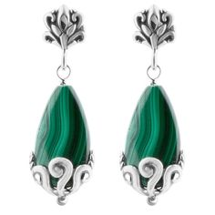 Carolyn Pollack Malachite Earrings I like these