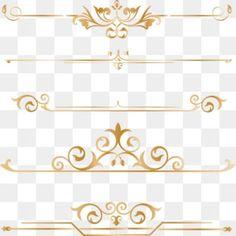 Gold Dividing border frame line PNG and Vector Border Pattern, Gold Pattern, Border Design, Illustration Ligne, Illustration Simple, Adobe Photoshop, Adobe Illustrator, Geometric Lines, Geometric Background