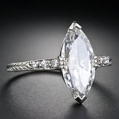 I would want a slightly thicker band but this is amazing! Marquise Ring  From a unique collection of vintage engagement rings. 1.41 carat dream.