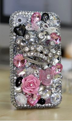 Tiaras and Trinkets Bling case Design case cover made for iPhone 4/ 4s, iPhone 5/ 5s, iPhone 6/ 6s Plus, Samsung Galaxy (S3, S4, S6 Edge), Galaxy Note( 2, 3, 4, 5), Nokia Lumia, Black Berry, LG, Motorola and for most  phone/device. More phone cases at http://luxaddiction.com/collections/3d-designs/products/tiaras-and-trinkets-design-style-391