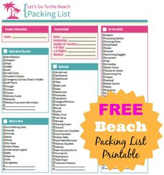 Don't forget anything, grab this FREE Beach Packing List from Frugal Coupon Living. plus 40 Beach Tips and Tricks - Hacks and Ideas for Your Trip to the Sand