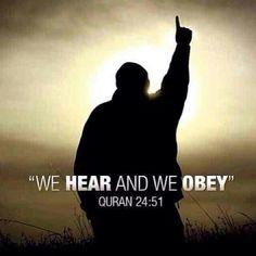 #obedience #faith #heard #islam #Muslim #sunnah #Quran