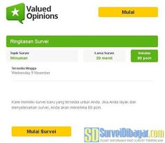 Ilustrasi undangan online survey Valued Opinions Indonesia | SurveiDibayar.com