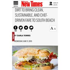 Thrilled beyond measure to receive our first press coverage yesterday!!  Thank you @miaminewtimes for the great write-up  Check out the link in our bio to read more!  #dirt #dirteatclean #eatclean #cleaneats #local #organic #sustainable #healthy #farmtotable #farmtocounter #soflo #miami #miamibeach #southbeach #sobe #sofi #305 #vegetarian #vegan #grassfed #glutenfree #juice #smoothie #coffee #tea #fresh #authentic #news #comingsoon