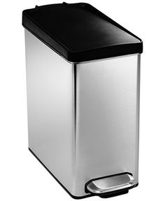 simplehuman Trash Can, 10 Liter Profile Step - Perfect. Narrow is ideal for apartment living with small bathrooms. :)