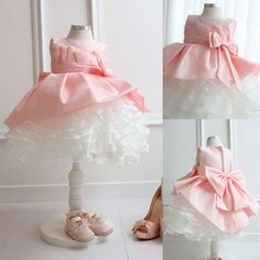 537cb6fa3d7 Price tracker and history of Retail Latest Design Girls Pink Bowtie Lace  Princess Dress Children Elegant Ball Gown Party Prom Dresses Flower Girl  Dress
