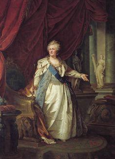 'Portret van keizerin Catharina II', 1793 / Johann-Baptist von Lampi de oudere (1751-1830) / Hermitage, St. Petersburg, Rusland.