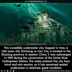 Creepy Facts, Wtf Fun Facts, Random Facts, Beautiful Places To Travel, Cool Places To Visit, Mysterious Places On Earth, Interesting History, Interesting Facts, Underwater City