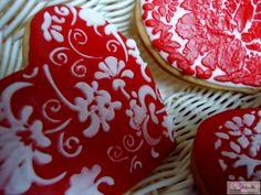 Galletas decoradas con Glasa y stencils. delarpeiros.blogspot.com.es