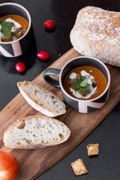 Serve your favourite in a beautiful by Cream Of Tomato Soup, Ceramic Decor, Serveware, Kitchenware, Organic, Ceramics, Mugs, Winter, Recipes