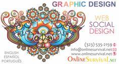 GRAPHIC DESIGN | DISEÑO GRÁFICO - Company Logos - Graphic Arts for Web & Social Media - Arte Gráfico para Web y Medios Sociales * Artwork $10 and up | Artes desde $10 * Phone | Tel: (323) 535-2159 http://www.onlinesurvival.net