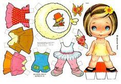 Recortable de muñeca con vestidos de papel para niños