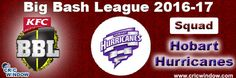 Big Bash League Hobart Hurricanes Squad http://www.cricwindow.com/big-bash-league-2016-2017/hobart-hurricanes-squad.html