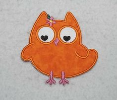 Owl - MADE to ORDER - Choose COLOR and Size - Tutu & Shirt Supplies - fabric Iron on Applique Patch 6829 by TheFabricScene on Etsy
