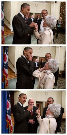 9oct2012---president obama with former senator john glenn and his wife annie, ohio state university