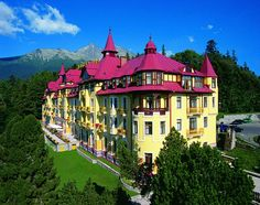 Didn't stay here, but I visited! Grand Hotel Praha in Tatranska Lominca, Slovakia Great Places, Places To Go, Schengen Area, High Tatras, Prague Czech Republic, Heart Of Europe, Life Is A Journey, Central Europe, Bratislava