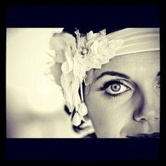 Beautiful bride, unique headpiece by #Bonzie