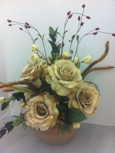 Shades of beige custom floral by Andrea for Michaels Laverne ca