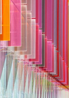 Coloured glass fins of Oxford University.