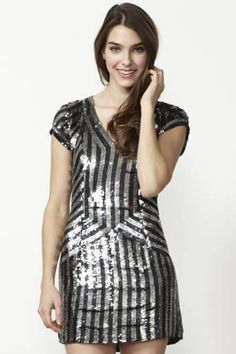 parker sequin dress. Would LOVE a slightly longer version of this!