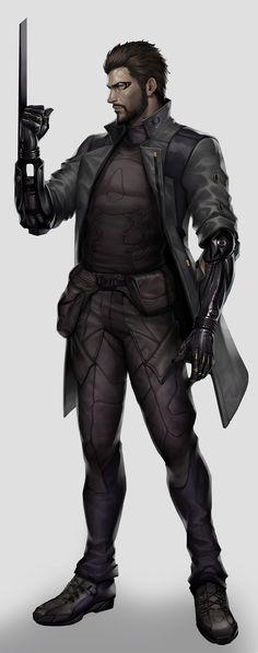 Cyberpunk Character, Man Character, Cyberpunk Art, Character Concept, Cyberpunk Aesthetic, Deus Ex Universe, Deus Ex Human, Deus Ex Mankind Divided, Apocalypse Survivor
