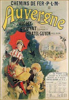 Vintage Railway Travel Poster - Auvergne - France.