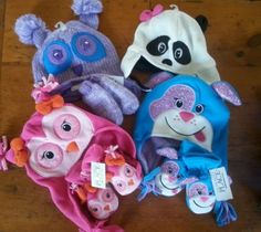 The Childrens Place Girls Winter Hat & Gloves 3 6 9 12 18 24 Months NEW Owl Dog in Clothing, Shoes & Accessories Internet Deals, Girls Winter Hats, Smurfs, 18th, Gloves, Owl, Clothing, Accessories, Ebay