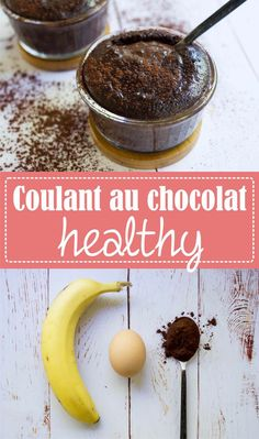 Healthy chocolate coulant, without refined sugar and without gluten, with only 3 ingredients: banana, egg, cocoa / Express recipe and greedy on the Godiche – www. Diabetic Recipes, Raw Food Recipes, Dessert Recipes, Healthy Recipes, Healthy Sugar, Healthy Desserts, Healthy Cooking, Healthy Drinks, Good Food