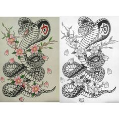 Cobra in color and black and gray by yours truly <3 #cobra #tattoo…