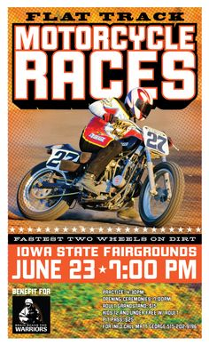 Flat track racing poster