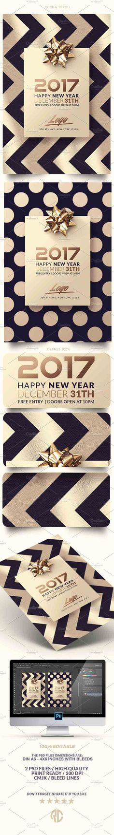 Love awesome design? Feast your eyes on New Year | Classy Invitation by @romecreation on @CreativeMarket   #happy #newyear #flyer #template #christmas #december #gold #invitation #postcards #cards #nye #ny2017 #romecration