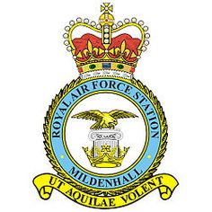 RAF Mildenhall- where my Dad was stationed Raf Bases, Raster To Vector, Military Pins, Air Force Aircraft, Military Insignia, Royal Air Force, Crests, Travel Planner, British Army