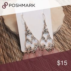 Selling this Pink chandelier earrings on Poshmark! My username is: saramilie. #shopmycloset #poshmark #fashion #shopping #style #forsale #Jewelry