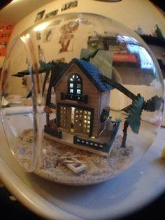 Miniature House dolls ball glass