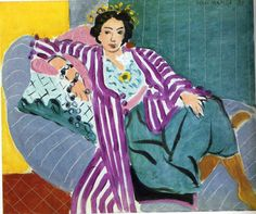 Small Odalisque in Purple Robe, 1937 by Henri Matisse. Expressionism. portrait. Private Collection