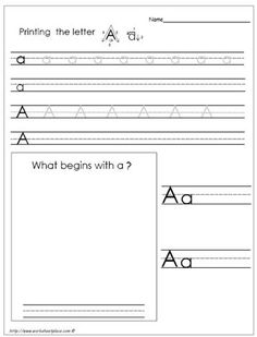 Alphabet writing practice printables