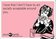 socially acceptable