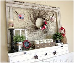 cute valentines mantel!