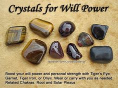 Crystals to help boost will power