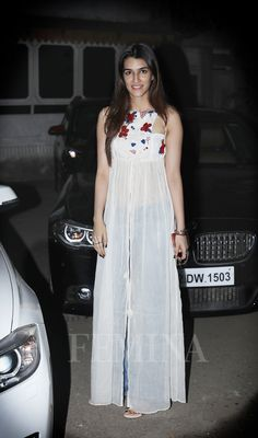 The Raabta star has stolen our hearts with her maxi dresses and peasant blouses. Here are some of her best looks. Designer Party Wear Dresses, Kurti Designs Party Wear, Indian Designer Outfits, Kurta Designs Women, Blouse Designs, Casual Indian Fashion, Dress Indian Style, Trendy Clothes For Women, Stylish Dresses