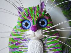 Cat art wall sculpture by artistJP on Etsy, $20.00