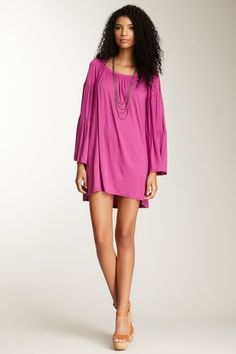 Off Shoulder Dress - personally, I would put leggings with it.  just sayin'
