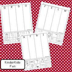 Word work activities: FREE Beginning Letter Sounds Review Sheets.