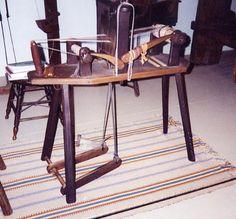 Treadle tape loom from Landis Valley Farm Museum.