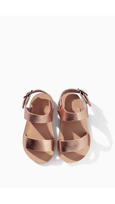 Rose gold kids sandals