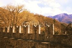 Castle walls - Buy this stock photo and explore similar images at Adobe Stock Castle Wall, Middle Ages, Landscapes, Walls, Autumn, Stock Photos, Explore, Painting, Image