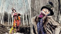 Earthy textures and pops of color via scarves, wraps & headpieces. Honestly fantastic.