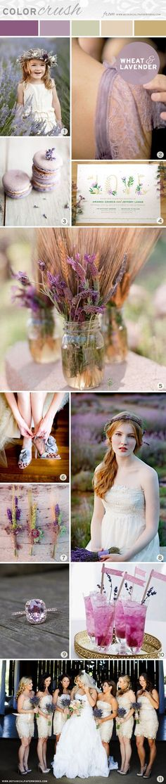 {inspiration board} Color Crush - Lavender and Wheat | Blog | Botanical PaperWorks