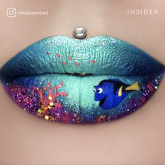 Artist draws intricate artwork on her lips 💋 - Jazmina Daniel's lip art is amazing! She can spend hours painting the designs, and they have draw - Lipstick Designs, Lip Designs, Lipstick Art, Lip Art, Crazy Lipstick, Colors For Skin Tone, Lip Colors, Basic Makeup Tutorial, Orange Lips