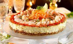 Lyxig cheesecake med räkor